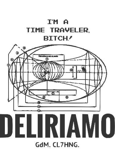 maglietta Time Travel Theory Loves Deliriamo