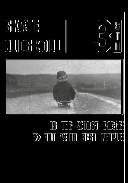 maglietta Felpa // Skate Old Skool