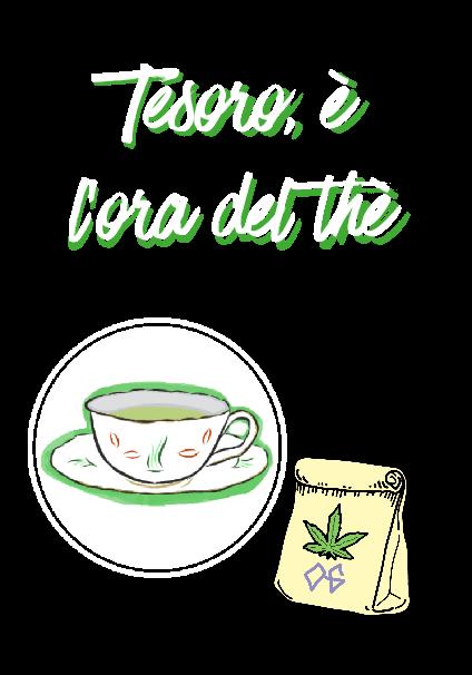 maglietta Tesoro, è l'ora del thè