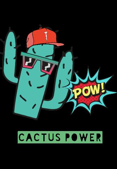 maglietta cactus power