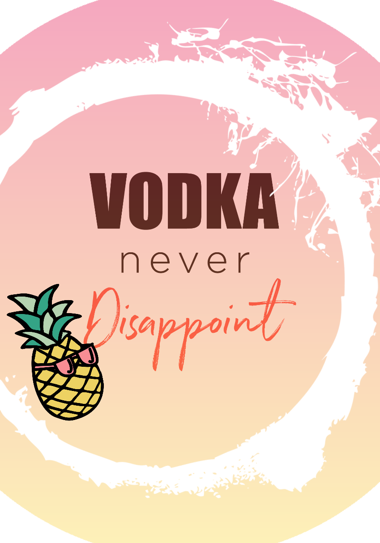maglietta Vodka Never Disappoint