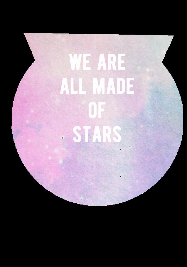 maglietta we are all made of stars