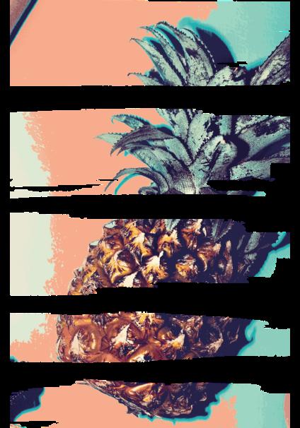 maglietta #ananas zebrata