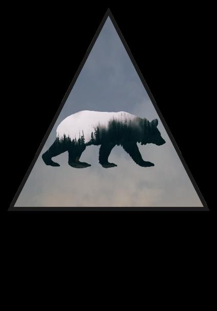 maglietta Orso con gli alberi