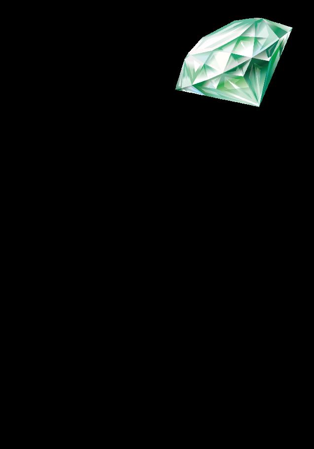 maglietta Diamante Verde