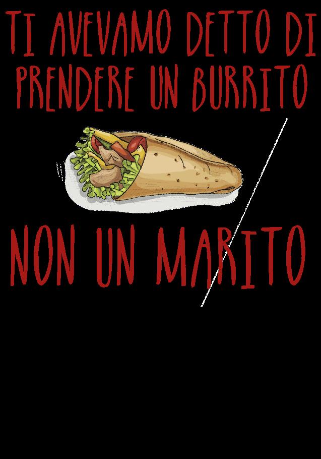 maglietta Burrito sdraiato_Ti avevamo detto