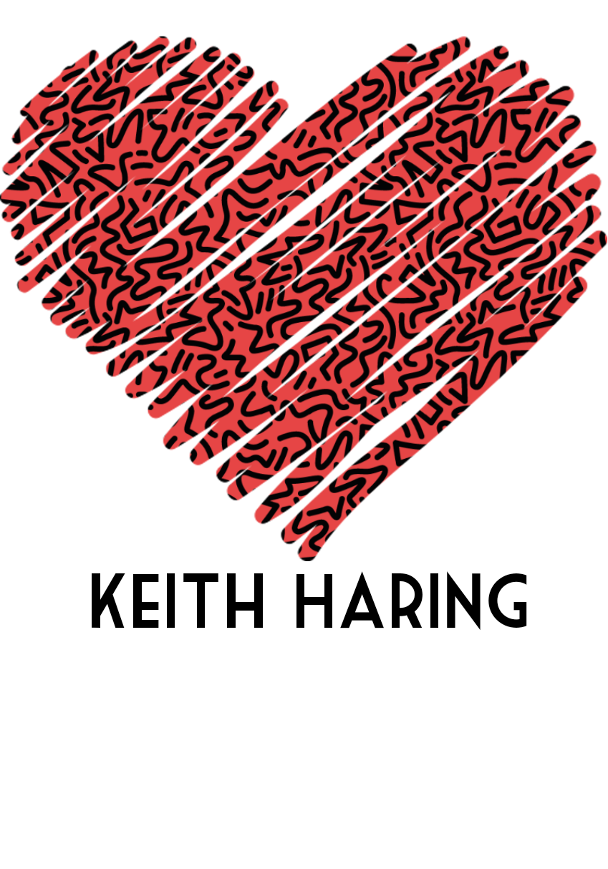 maglietta Love Keith Haring
