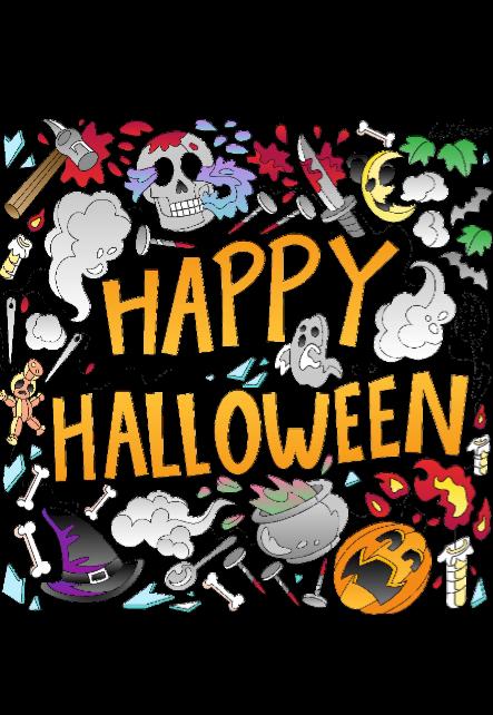 maglietta happy halloween