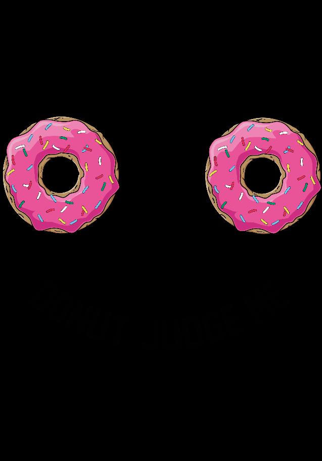 maglietta Donut judge me