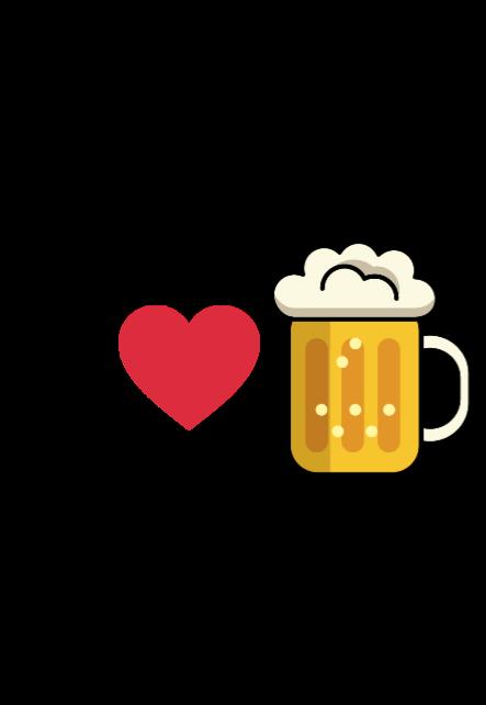 maglietta I love beer!