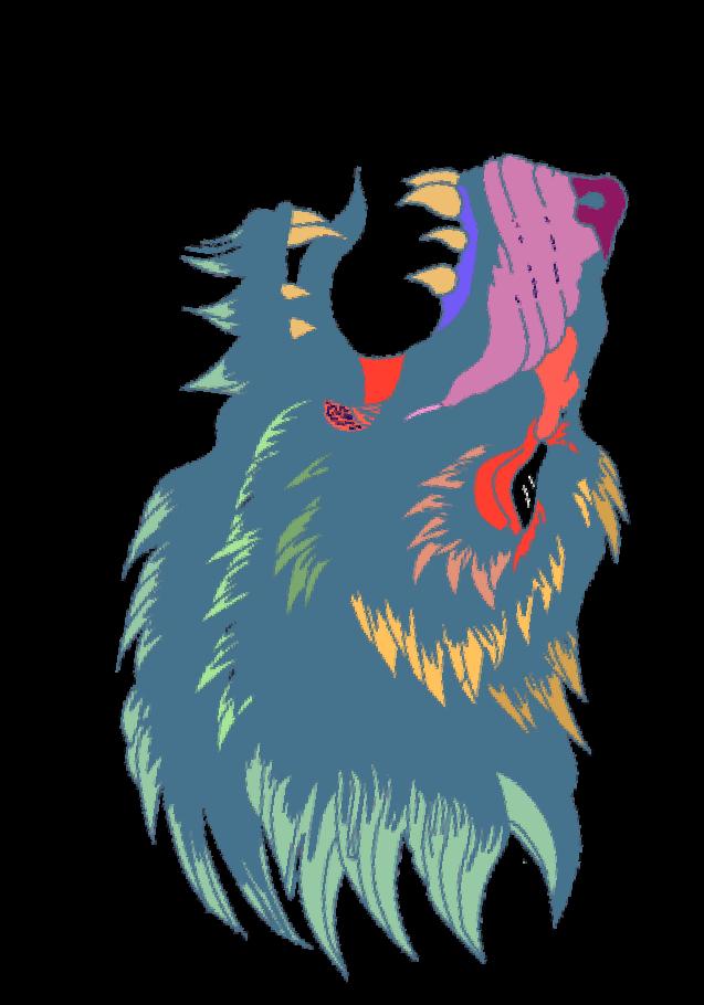 maglietta rainbow bear