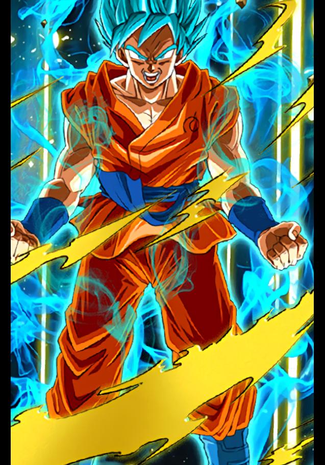 maglietta Goku ssj blu