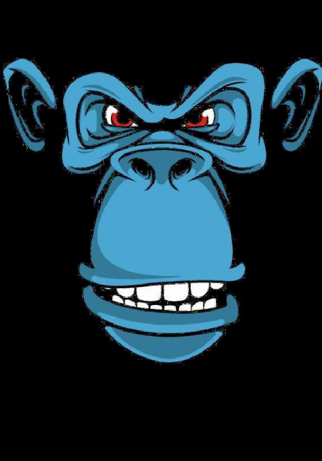 maglietta scimmia blu