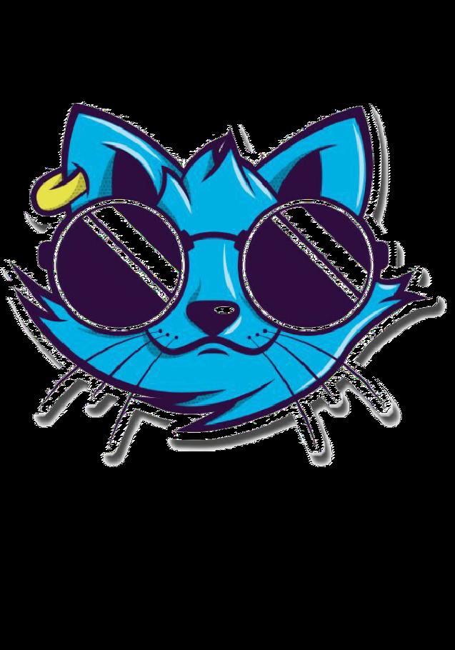 maglietta Gatto Blu