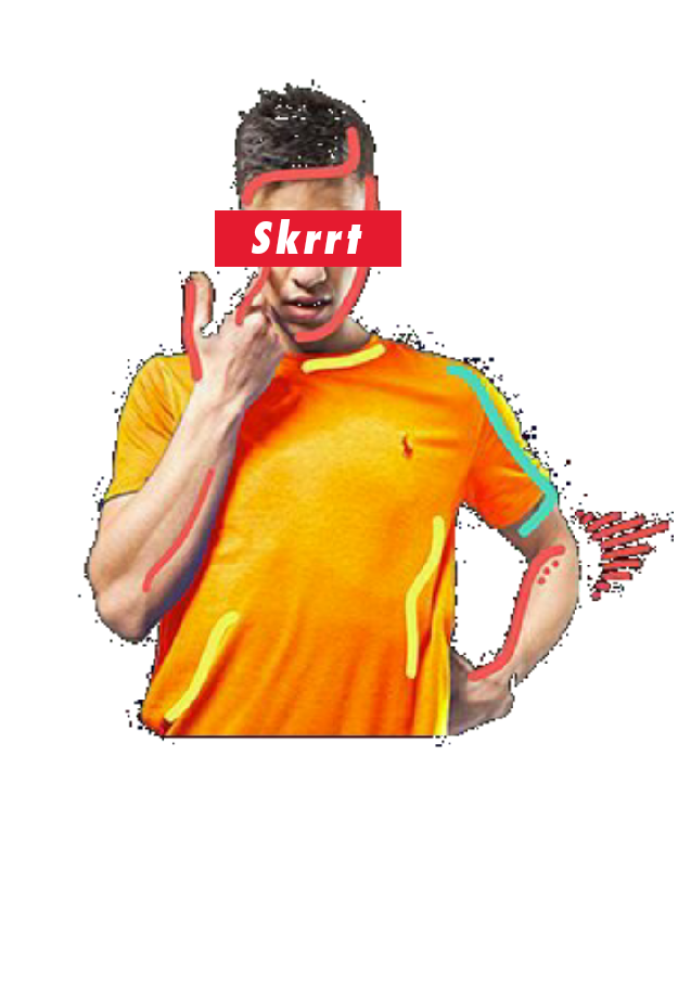 maglietta Tedua Skrrt (re-make)