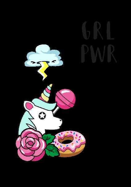 maglietta GRL PWR