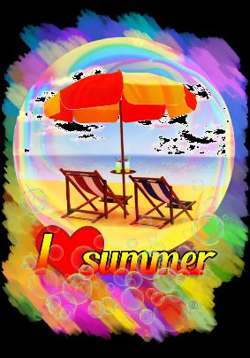 maglietta I love summer V2