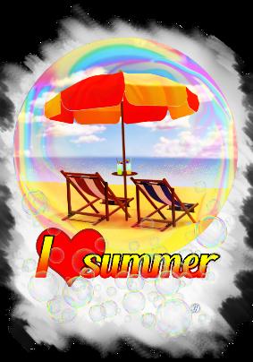 maglietta I love summer v4