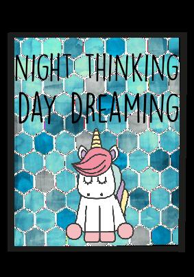maglietta nigjt thinking day dreaming