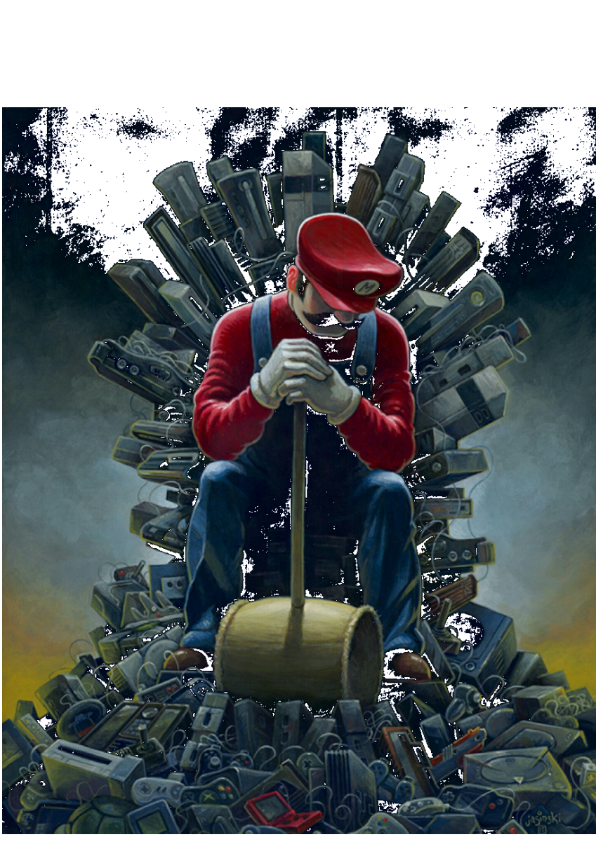 maglietta Super Mario Thrones