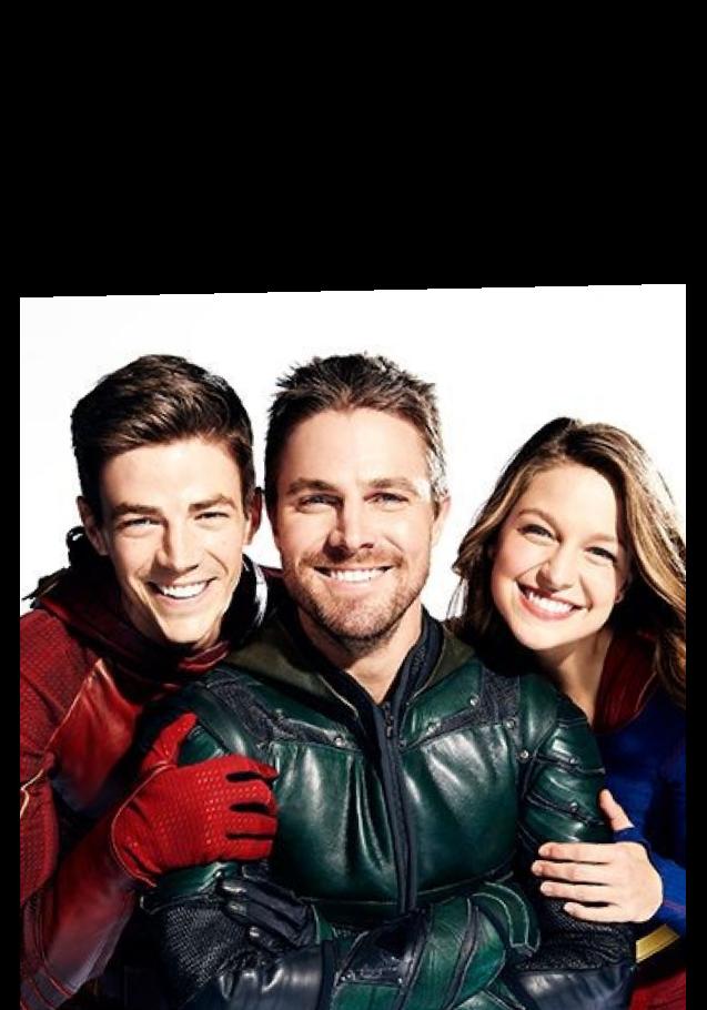 maglietta gadgets con flash, Arrow e supergirl