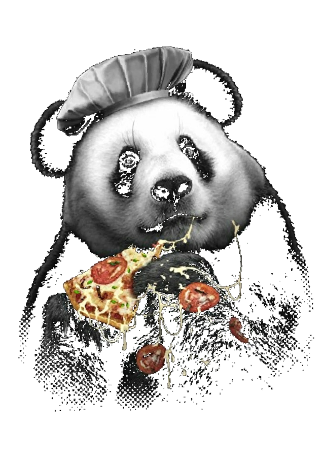 maglietta PANDA LOVES PIZZA