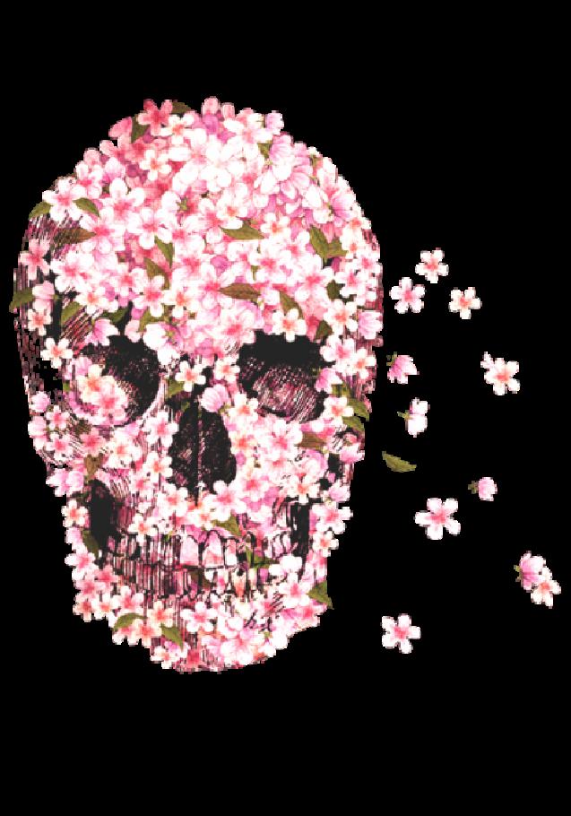 maglietta FLOWER SKULL
