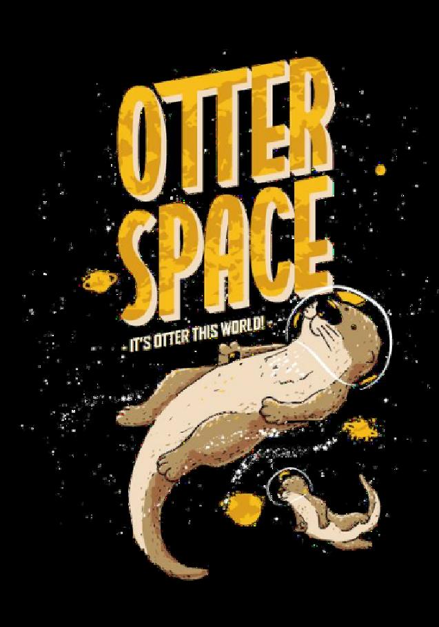 maglietta OTTER SPACE
