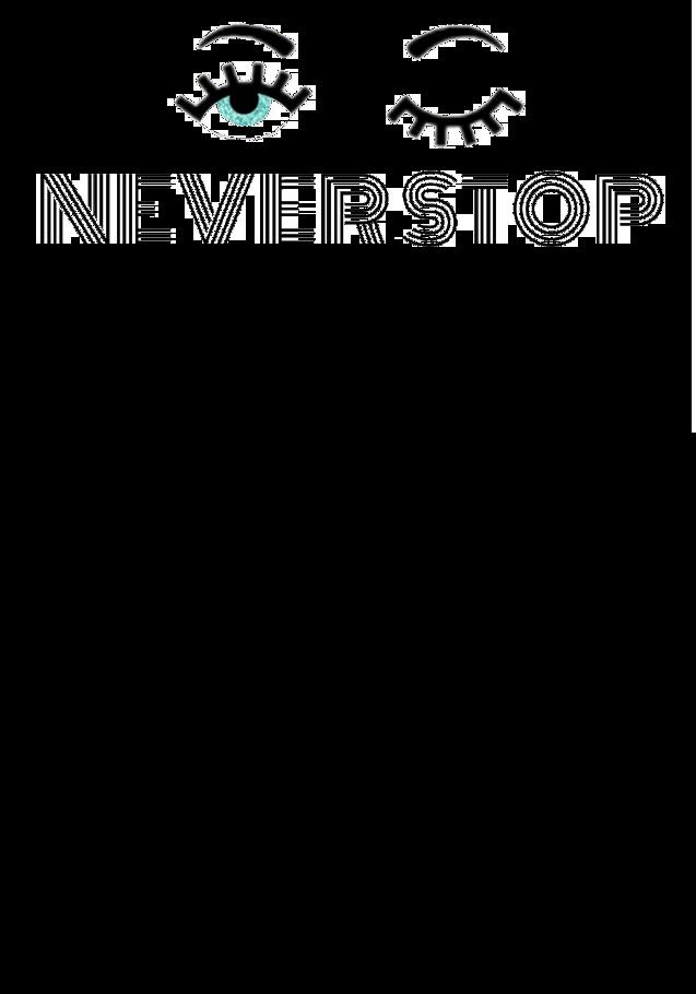maglietta NEVER STOP