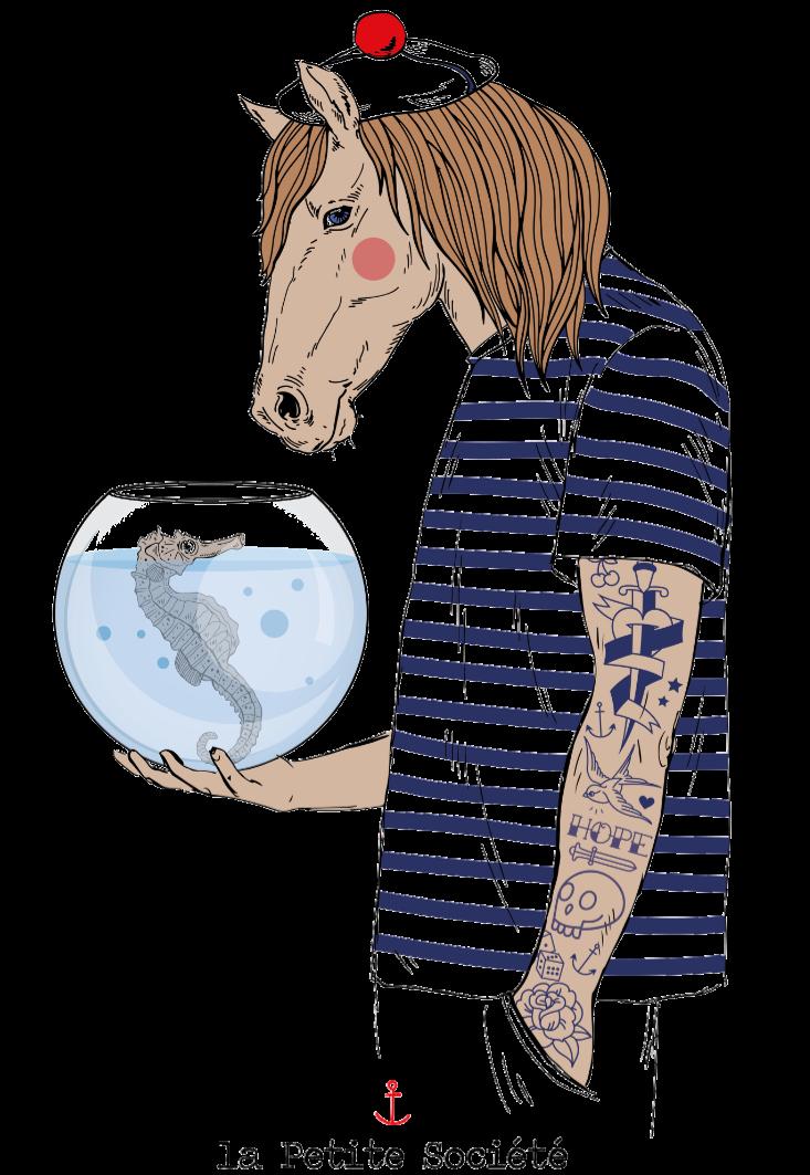 maglietta Sailor Horse