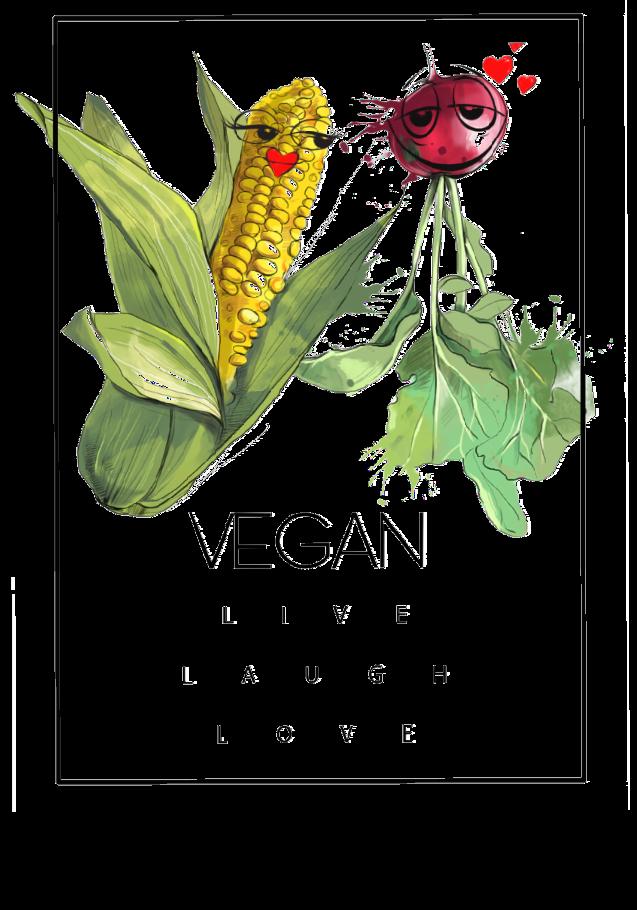 maglietta Vegan Love