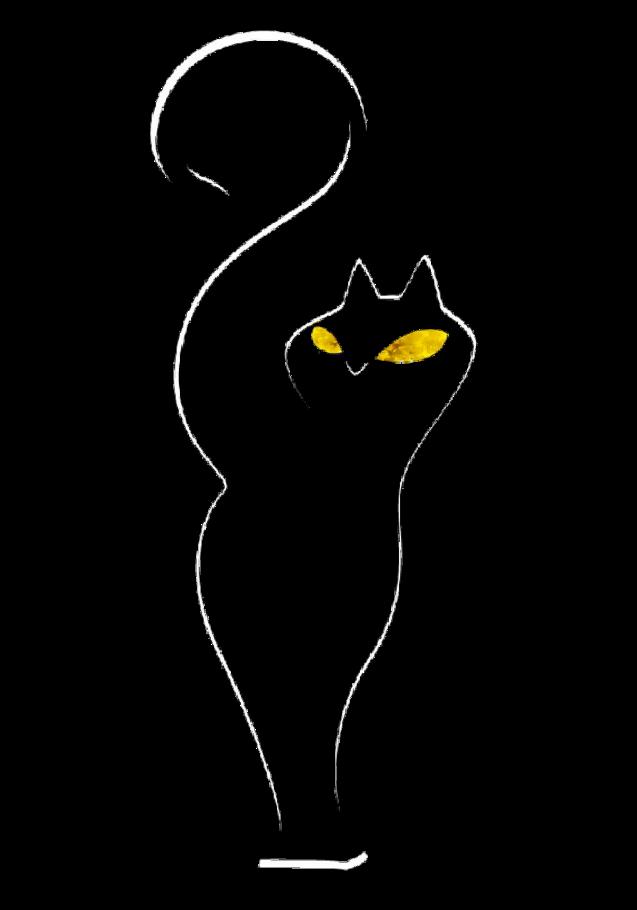 maglietta Cat minimal