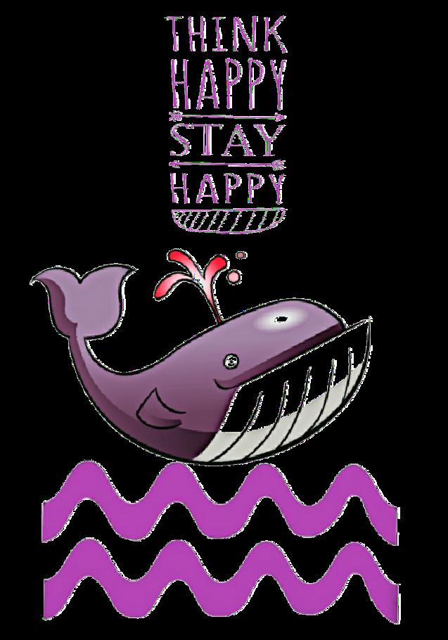 maglietta Pink whale