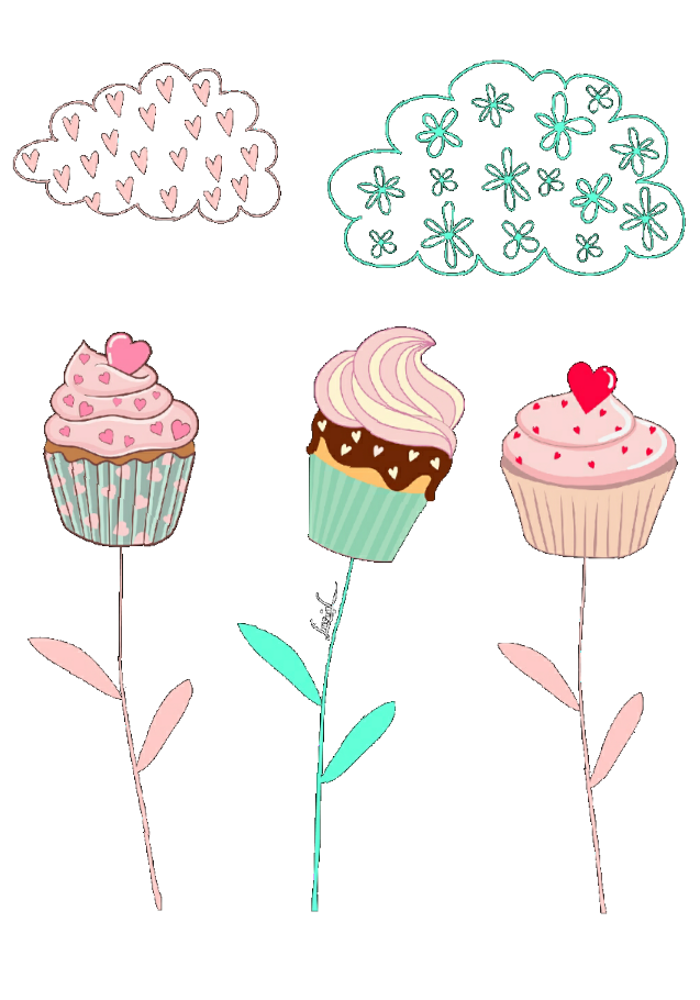 maglietta Cupcakes flowers