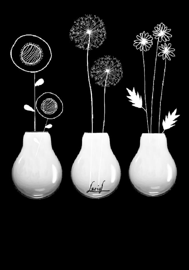 maglietta Fiori in vaso-lampadina