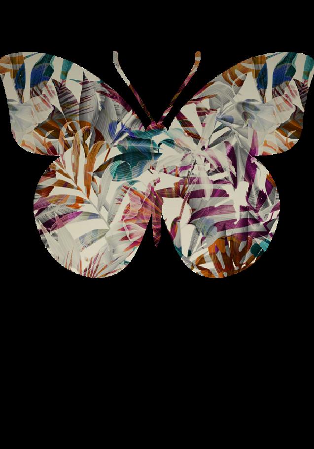 maglietta colorful butterfly