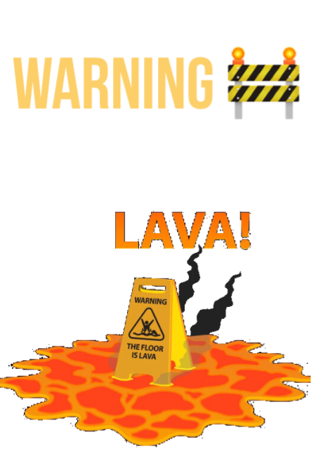 maglietta the floor is lava