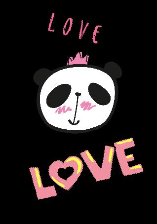 maglietta cover e t-shirt a strisce con panda