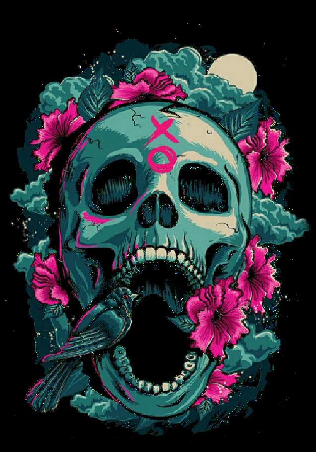 maglietta SKULL & ROSES