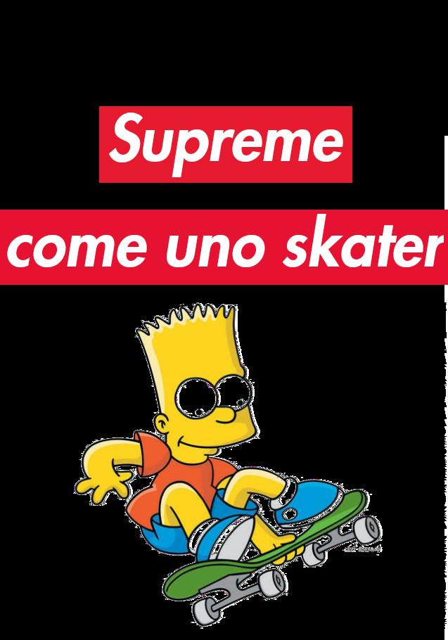 maglietta supreme come uno skater