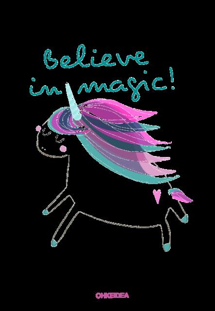 maglietta Unicorn 'Believe in magic'