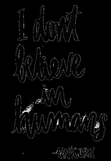 maglietta I don't believe in humans. - Unicorn