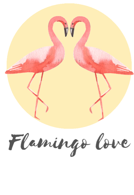 maglietta Flamingo love