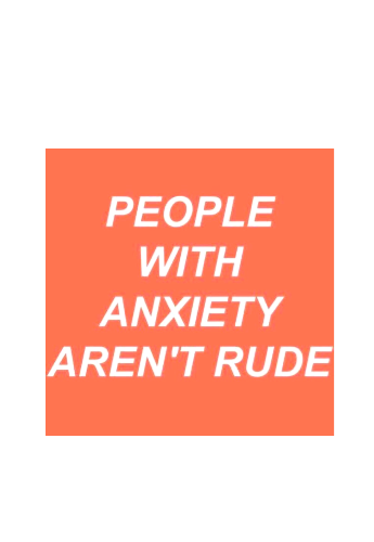 maglietta People with anxiety aren't rude
