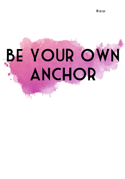 maglietta Be your own anchor ?