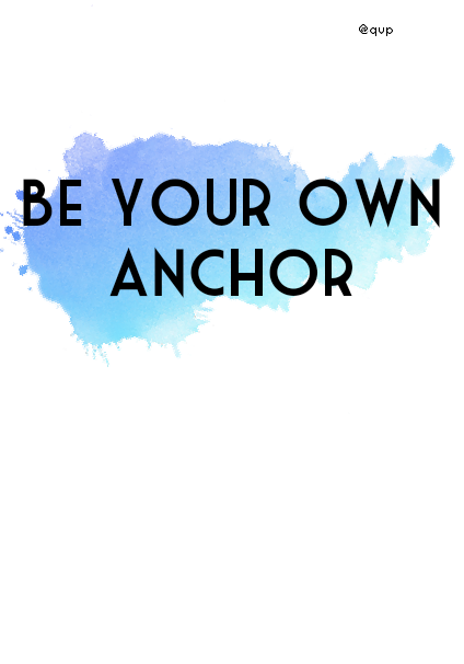 maglietta Be your own anchor ? t-shirt