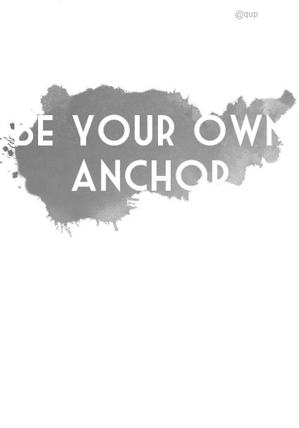 maglietta Be your own anchor ♐ t-shirt