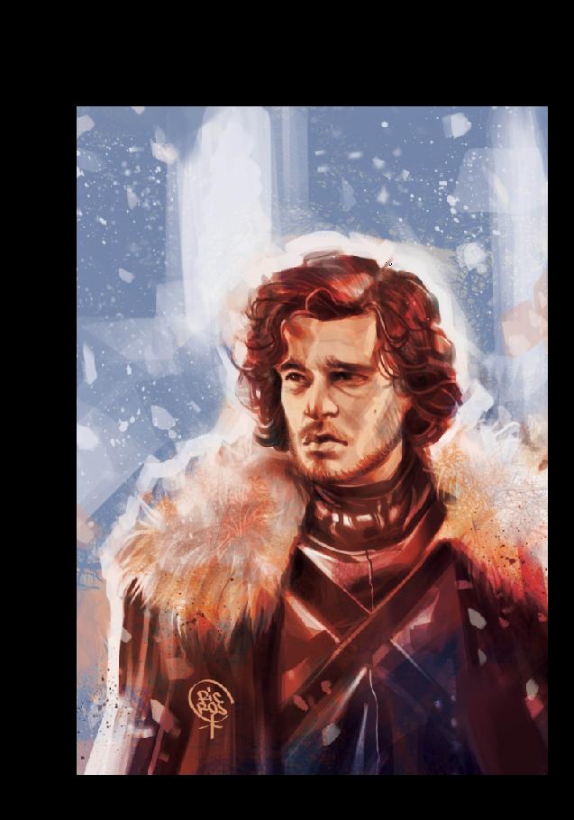 maglietta Jon Snow portrait