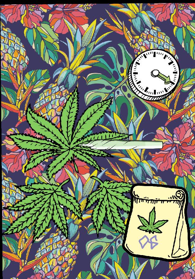 maglietta Weed travel
