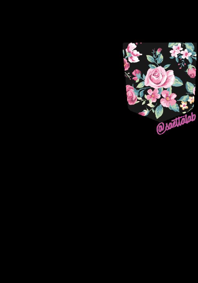 maglietta Taschino roses